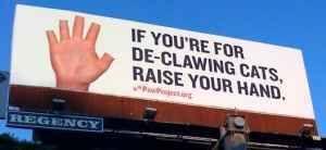 manos arriba declawing poster